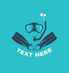 scuba diving logo vector image