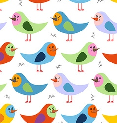 Seamless pattern of colorful birds background for vector image vector image