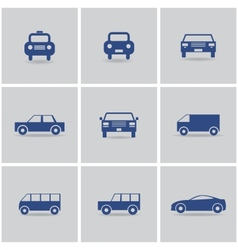 set of icon cars vector image vector image