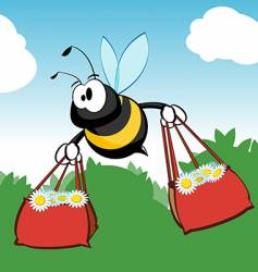 Shopping bee vector