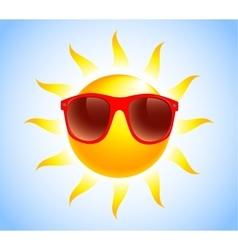 summer sun sunglasses vector image vector image