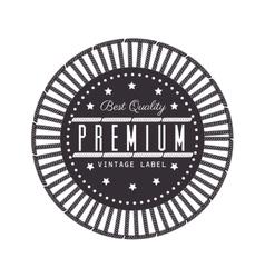 Vintage frame quality seal vector