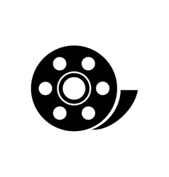 Isolated film reel design vector
