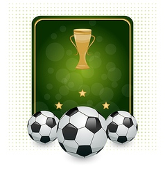 Football layout with champion cup and place for vector