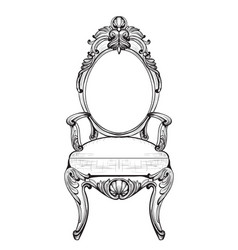 Exquisite fabulous imperial baroque chairs in vector