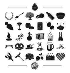 bavaria rest fest and other web icon in black vector image