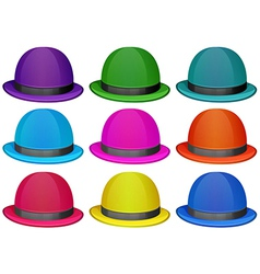 A group of colorful hats vector