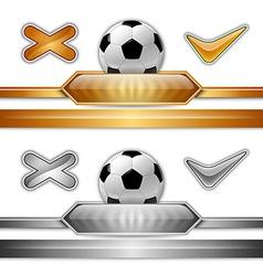football score gold silver vector image