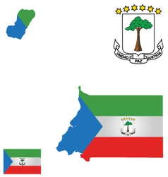 Republic of equatorial guinea flag vector