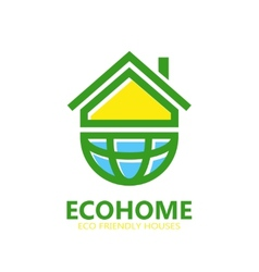 Eco house logo or symbol icon vector