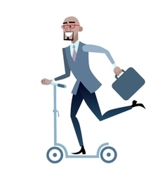 African businessman on a scooter healthy lifestyle vector