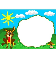 dog frame vector image