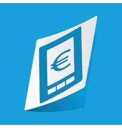 Euro on screen sticker vector