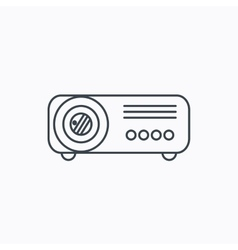 Projector icon video presentation device sign vector