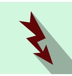 Lightning flat icon vector image
