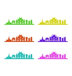 Milano skyline vector