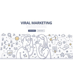 Viral Marketing Doodle Concept vector image