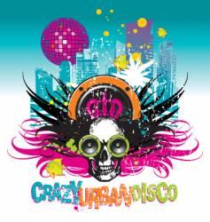 Crazy urban disco vector