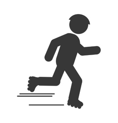 Skating person pictogram icon vector