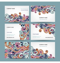 Abstract business cards collection for your design vector image vector image