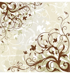 antique floral background vector image vector image