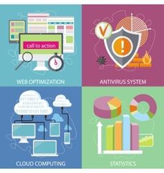 Antivirus system cloud computing statistics vector image vector image