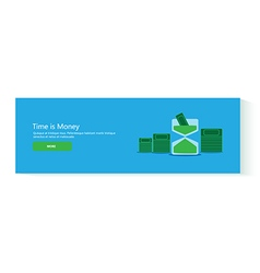 banner time is money vector image vector image