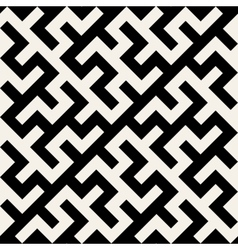 Black and white maze ornament seamless vector