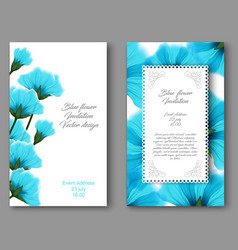 botanical vertical banners with blue flower vector image