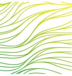 Color hand-drawing seamless wave background green vector