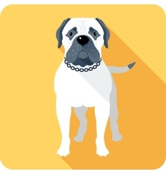 dog Bullmastiff icon flat design vector image
