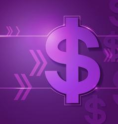 Dollar signs on violet background vector