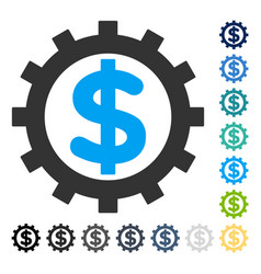 Financial industry icon vector