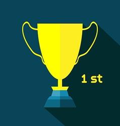 Golden Goblet Soccer Reward vector image