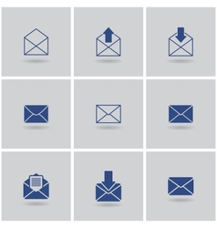 icons envelope vector image vector image