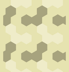 irregular hexagon seamless pattern vector image vector image