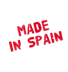 made in spain rubber stamp vector image vector image