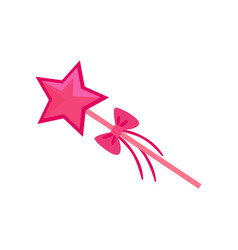 magic wand accessory for a little princess or vector image
