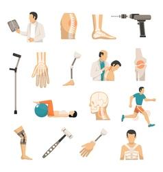 Orthopedics color icons set vector