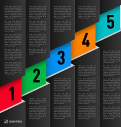 Paper style infographics vector