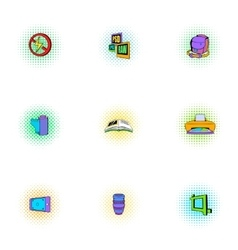 Photographing icons set pop-art style vector image vector image