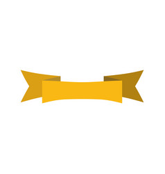 Ribbon isolated template yellow decorative tape vector
