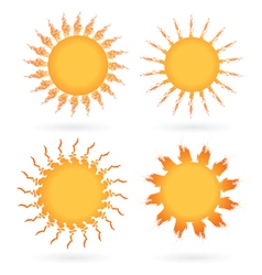 Set of abstract suns vector image vector image