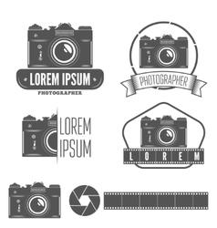 Set of badge emblem label and elements for vector image