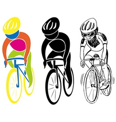 Sport icons for cycling vector image vector image