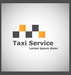taxi service logotype vector image vector image