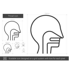 Throat line icon vector