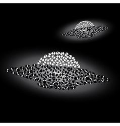 Two ufo - alien spaceships eps10 vector