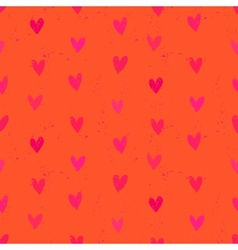 Velentines day pattern with hand painted hearts vector image vector image