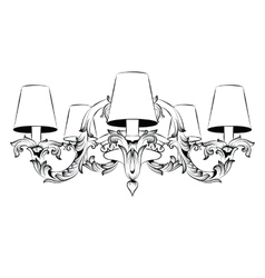 Vintage baroque elegant chandelier luxury vector